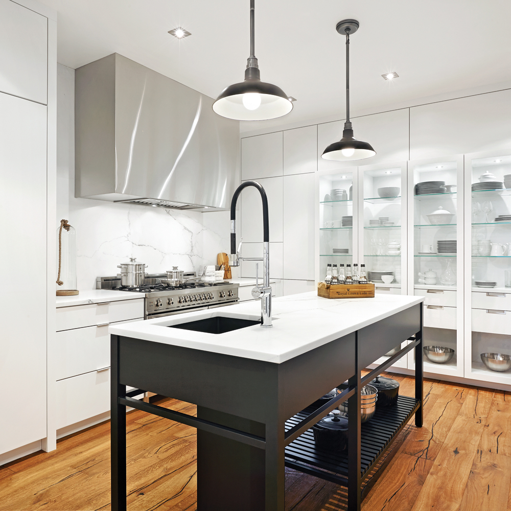 Noblesse en mode industriel dans la cuisine