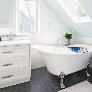 Avant/après: salle de bain au charme vintage