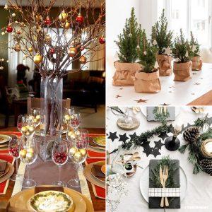 25 idées pour une table de Noël en toute simplicité
