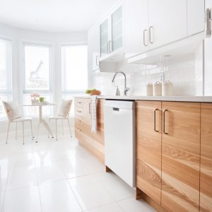 Harmonie en blanc dans la cuisine