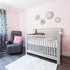 Rose tendre pour la chambre de bébé