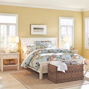 Un jaune pastel lumineux pour la chambre