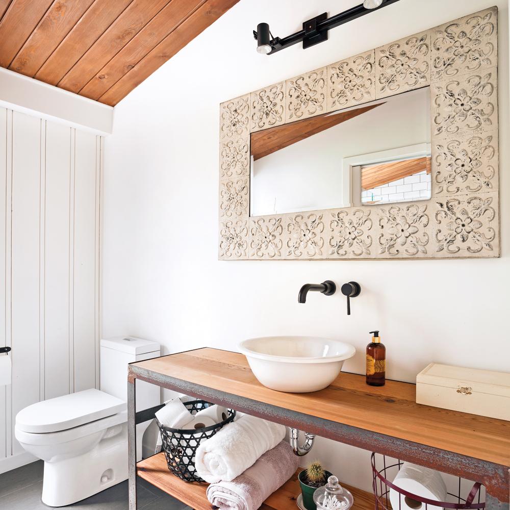 Salle de bain style chalet chic - Je Décore