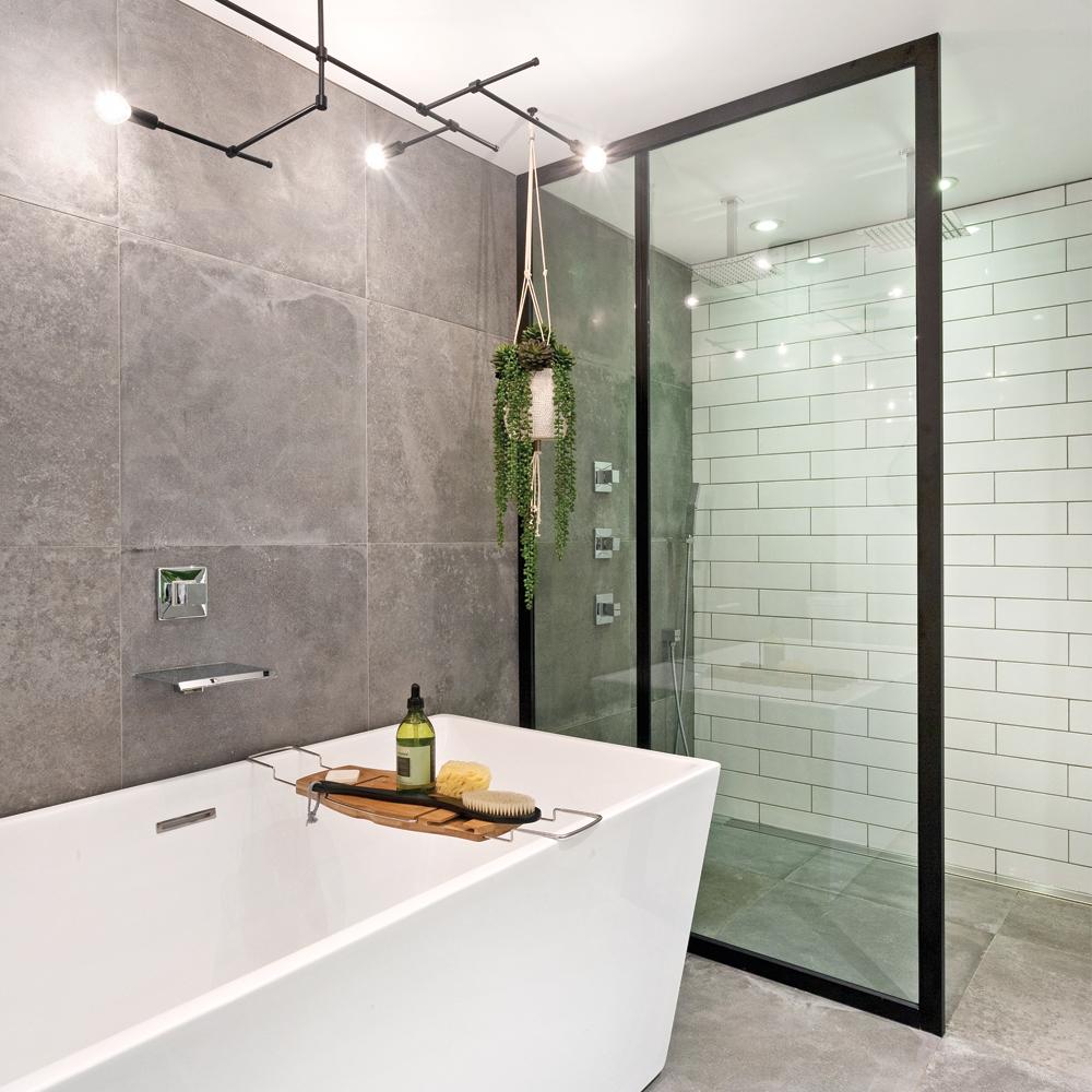 Un design industriel pour la salle de bain