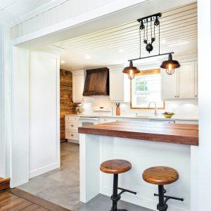 Le mariage du bois dans la cuisine