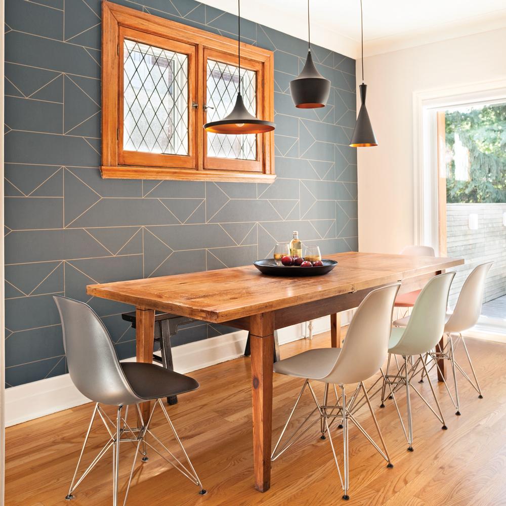 papier peint ultra tendance pour la salle manger je d core. Black Bedroom Furniture Sets. Home Design Ideas