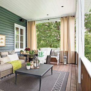 DIY: rideaux extérieurs