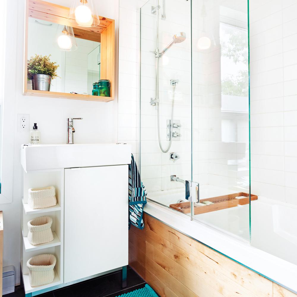 Cohabitation organique dans la salle de bain