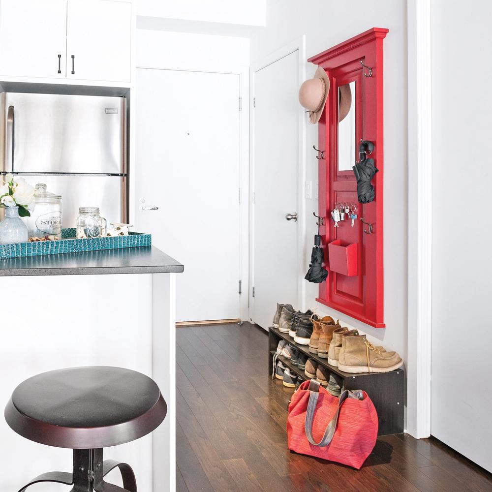 DIY – Nouvelle vie pour une porte dans le hall d'entrée