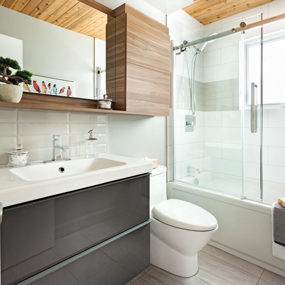 Esprit nordique pour la salle de bain je d core - Salle de bain nordique ...