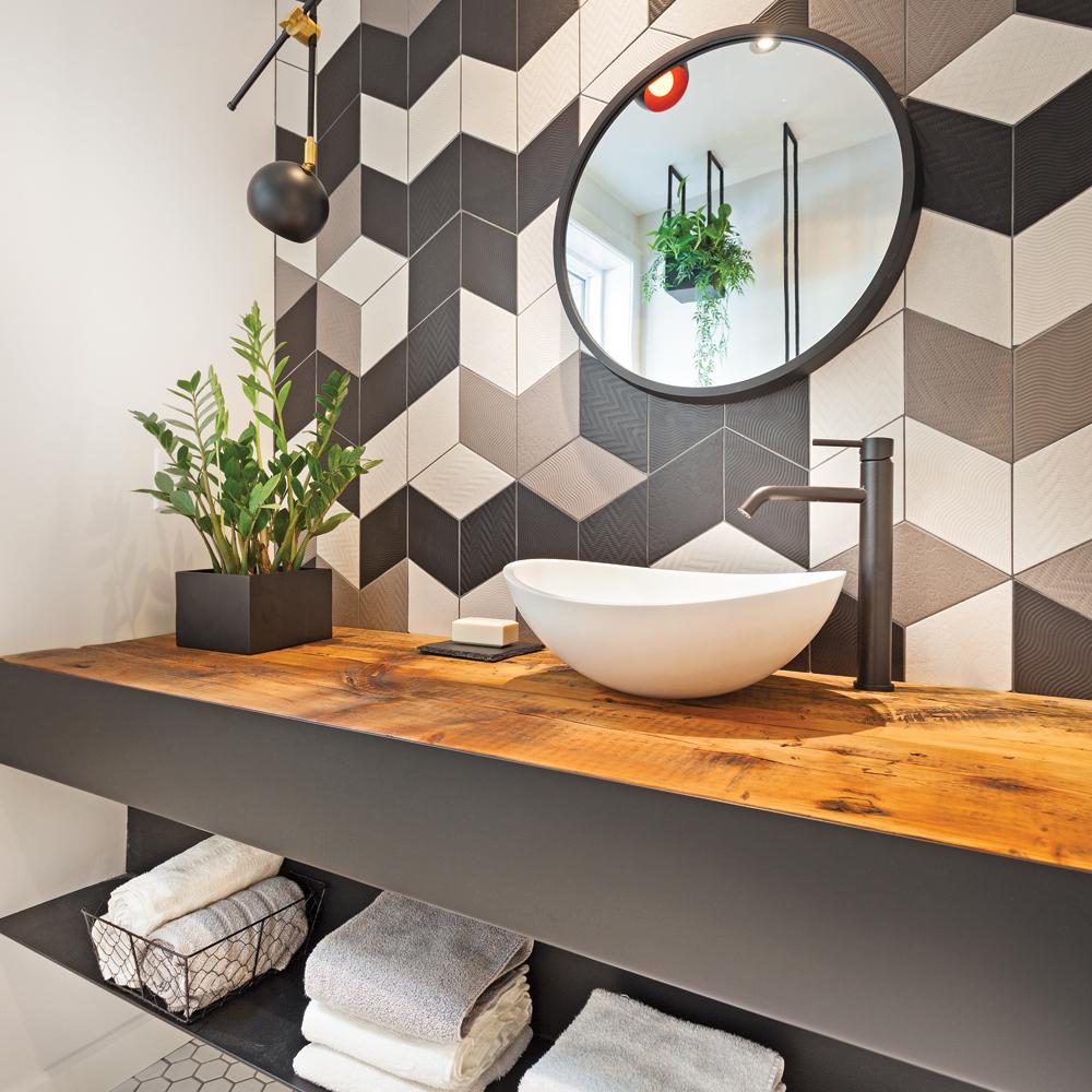 salle de bain un meuble lavabo 100 sur mesure je d core. Black Bedroom Furniture Sets. Home Design Ideas