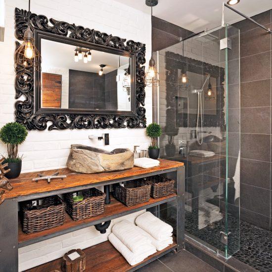 Une salle de bain au look vintage industriel