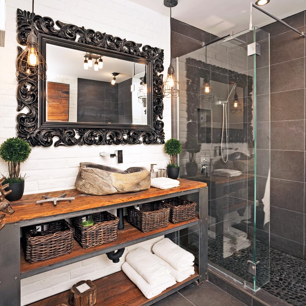 Une salle de bain au look vintage industriel - Je Décore