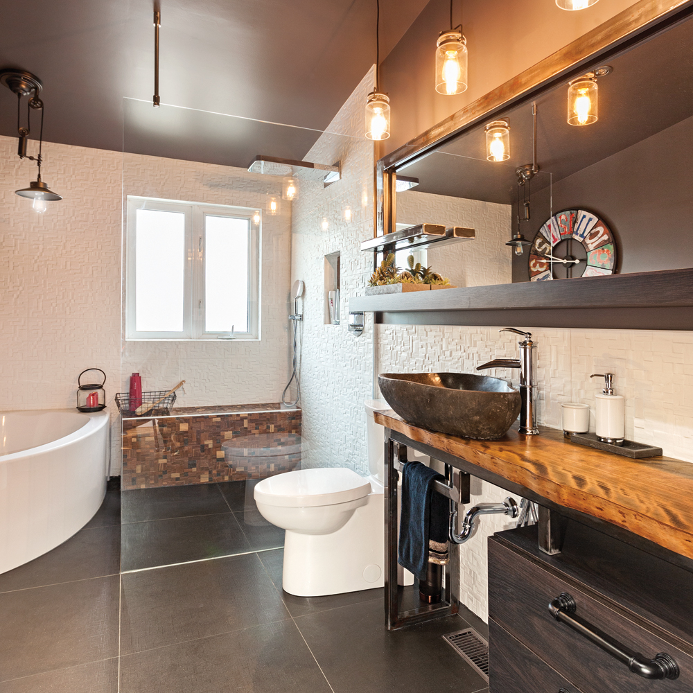 Best Salle De Bain Rustique Industriel Contemporary - House Design ...