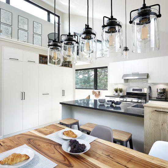 Cuisine industrielle de style garage-loft