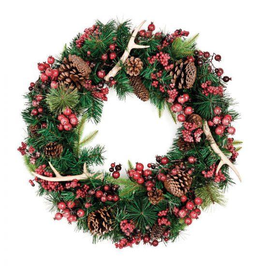 Une couronne toute simple de Noël