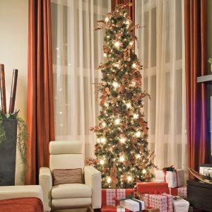 Sapin de Noël aux accents cuivrés
