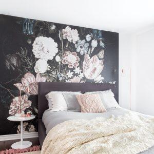 Les murales florales à l'anglaise