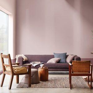 Nuance brun rosé au salon