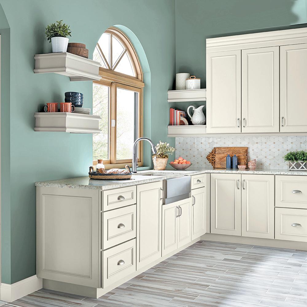 Couleur vert-de-gris pour une ambiance apaisante dans la cuisine - Je Décore