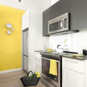 Jaune citron dans la cuisine
