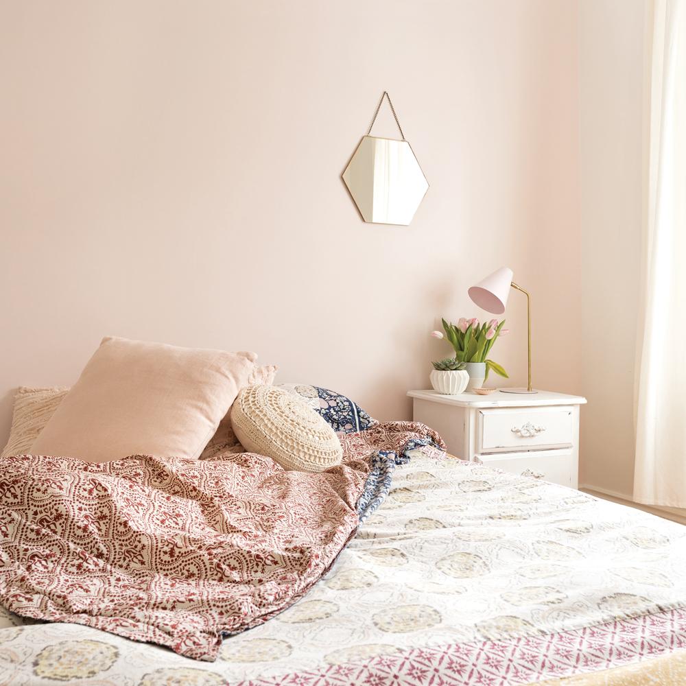 Rose blush pour la chambre à coucher