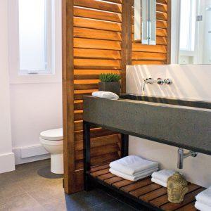 Charme industriel pour la salle d'eau