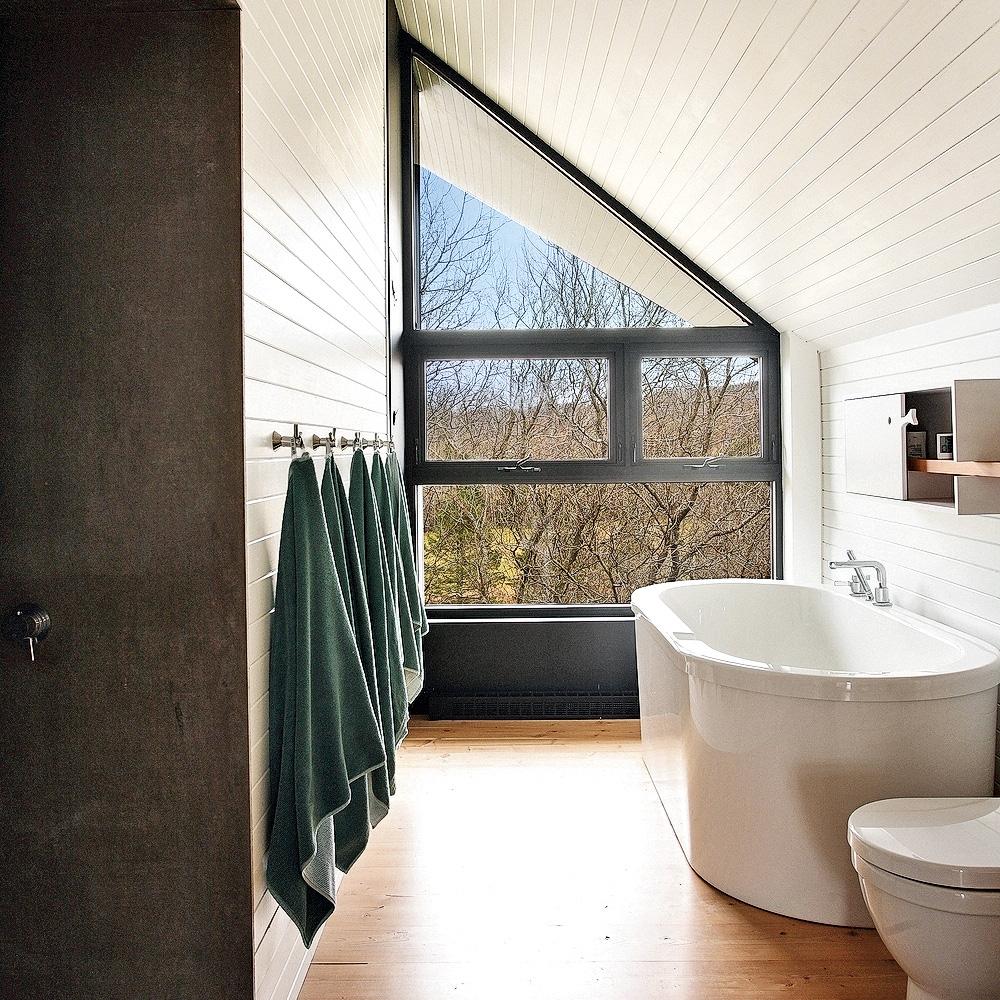 Bain de nature pour la salle de bain