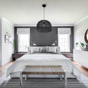 Chambre à coucher revisitée avec style
