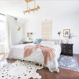 Une chambre mise en beauté par Mélanie