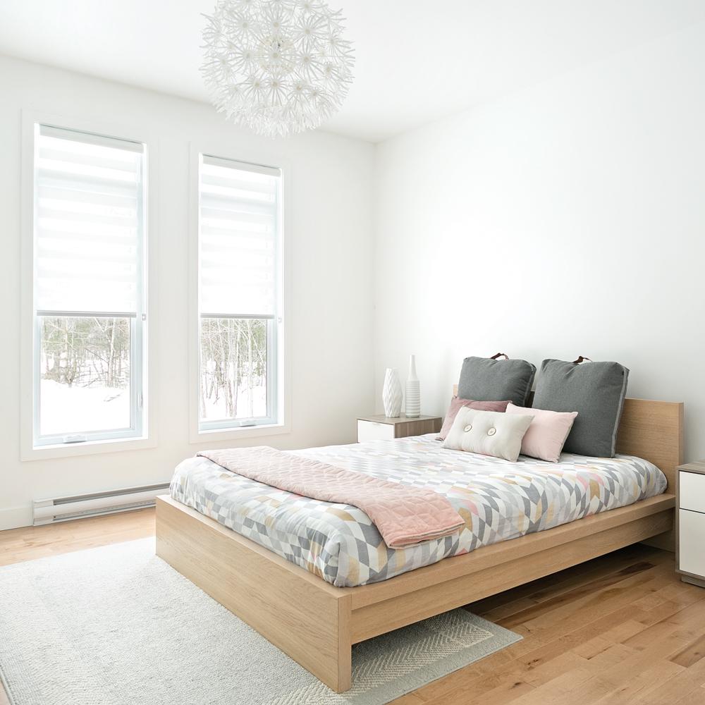 Chambre minimaliste et épurée