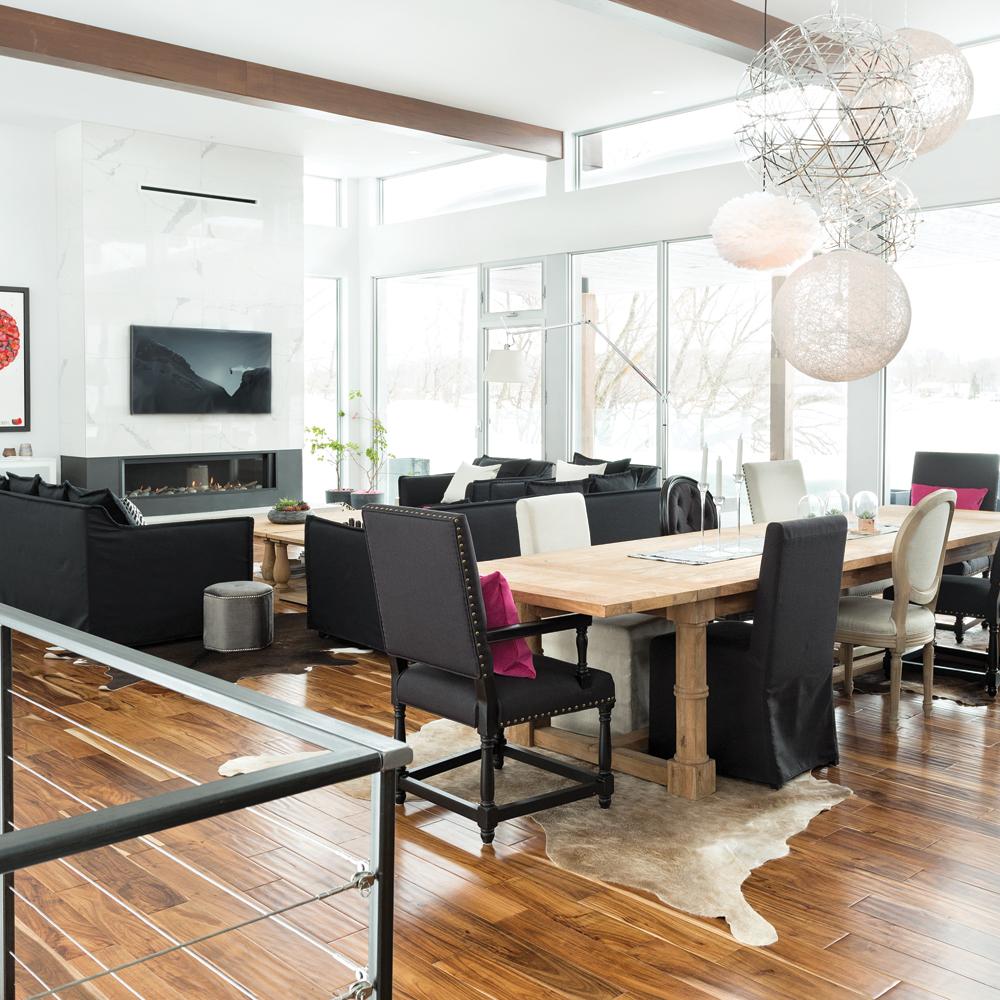 Salon Et Cuisine Aire Ouverte visite d'une maison aux influences californiennes - je décore