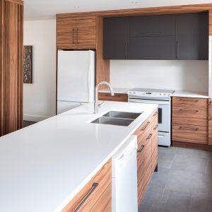 Une cuisine d'inspiration minimaliste