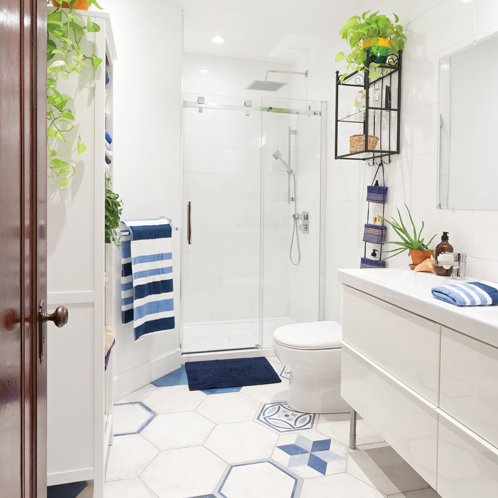 Salle de bain blanche d inspiration m diterran enne je d core - Inspiration salle de bain ...