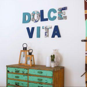 DIY – Lettres 3D en tissu