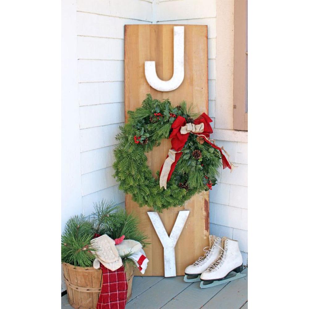 DIY: Panneau de bois et couronne de Noël