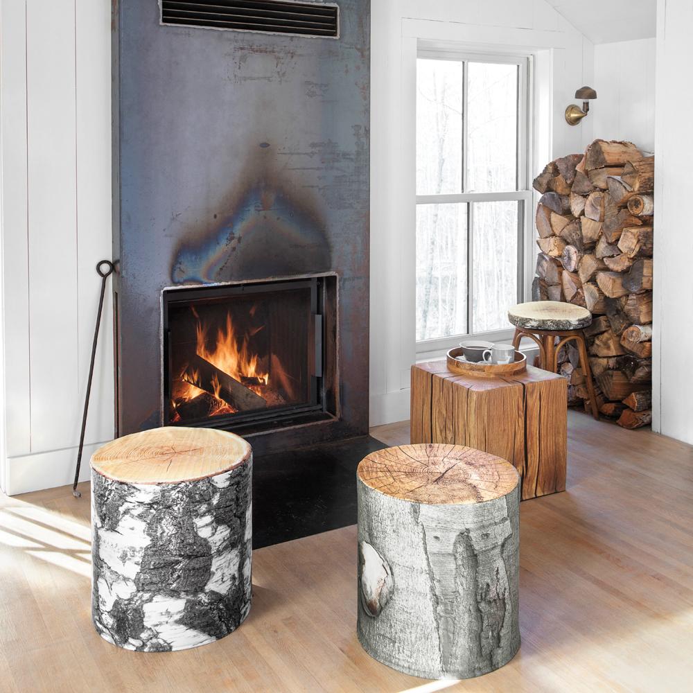 Manteau de cheminée en acier pour une touche rustique au salon