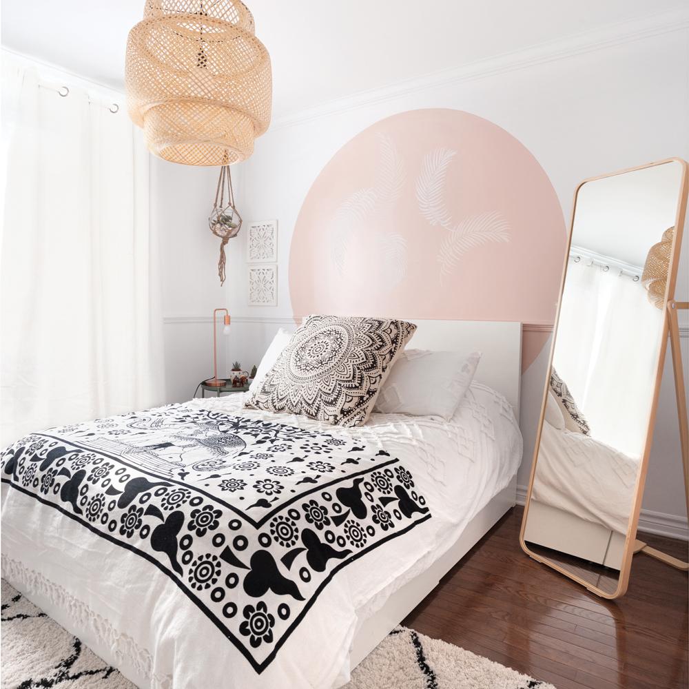 Tête de lit de style bohème pour une chambre à coucher d ...