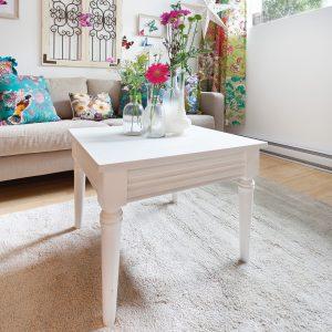 Une table de salon récupérée