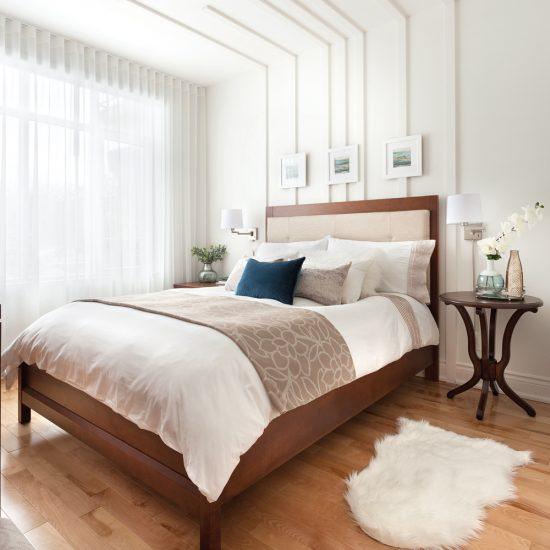 Moulures et volumes pour décorer la chambre à coucher