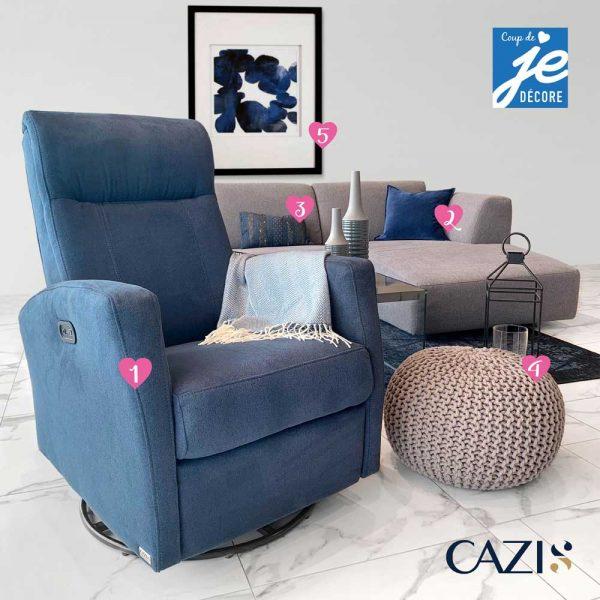 Un salon cozy et tendance