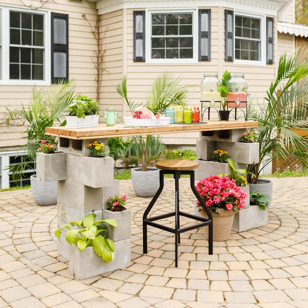 Un bar-terrasse facile à réaliser!