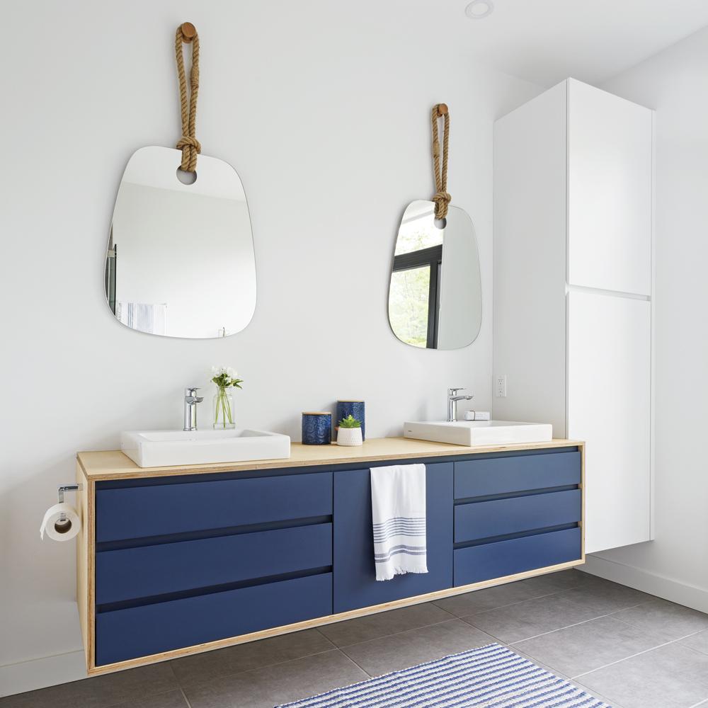 Meuble-lavabo au charme scandinave