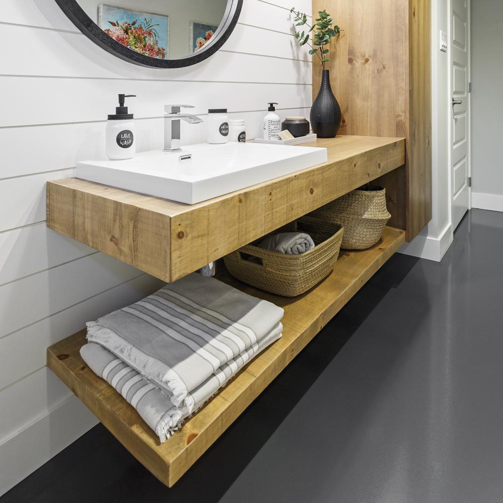 Meuble-lavabo style farmhouse