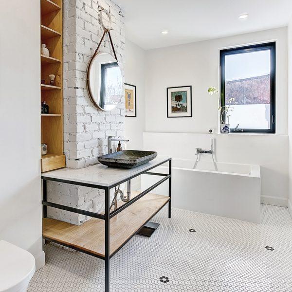 Meuble-lavabo industriel
