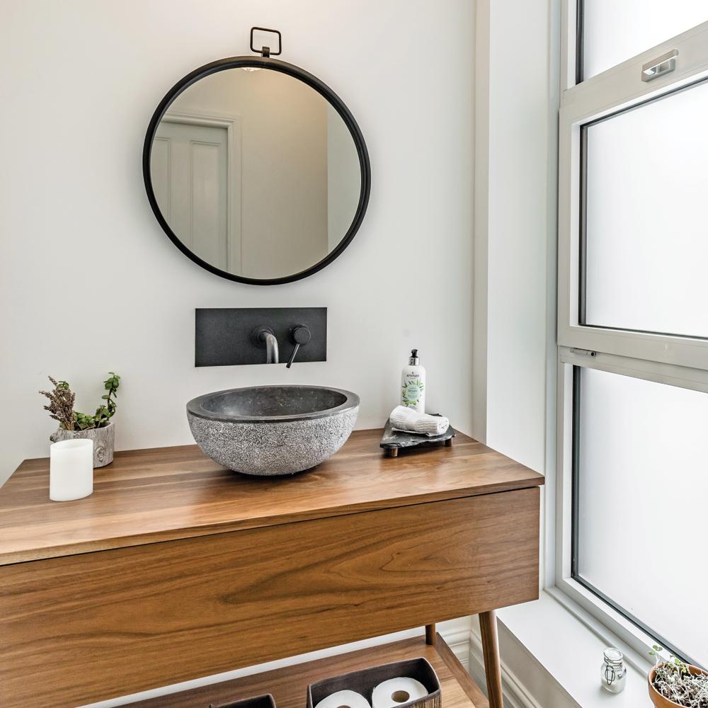 Meuble-lavabo mid-century