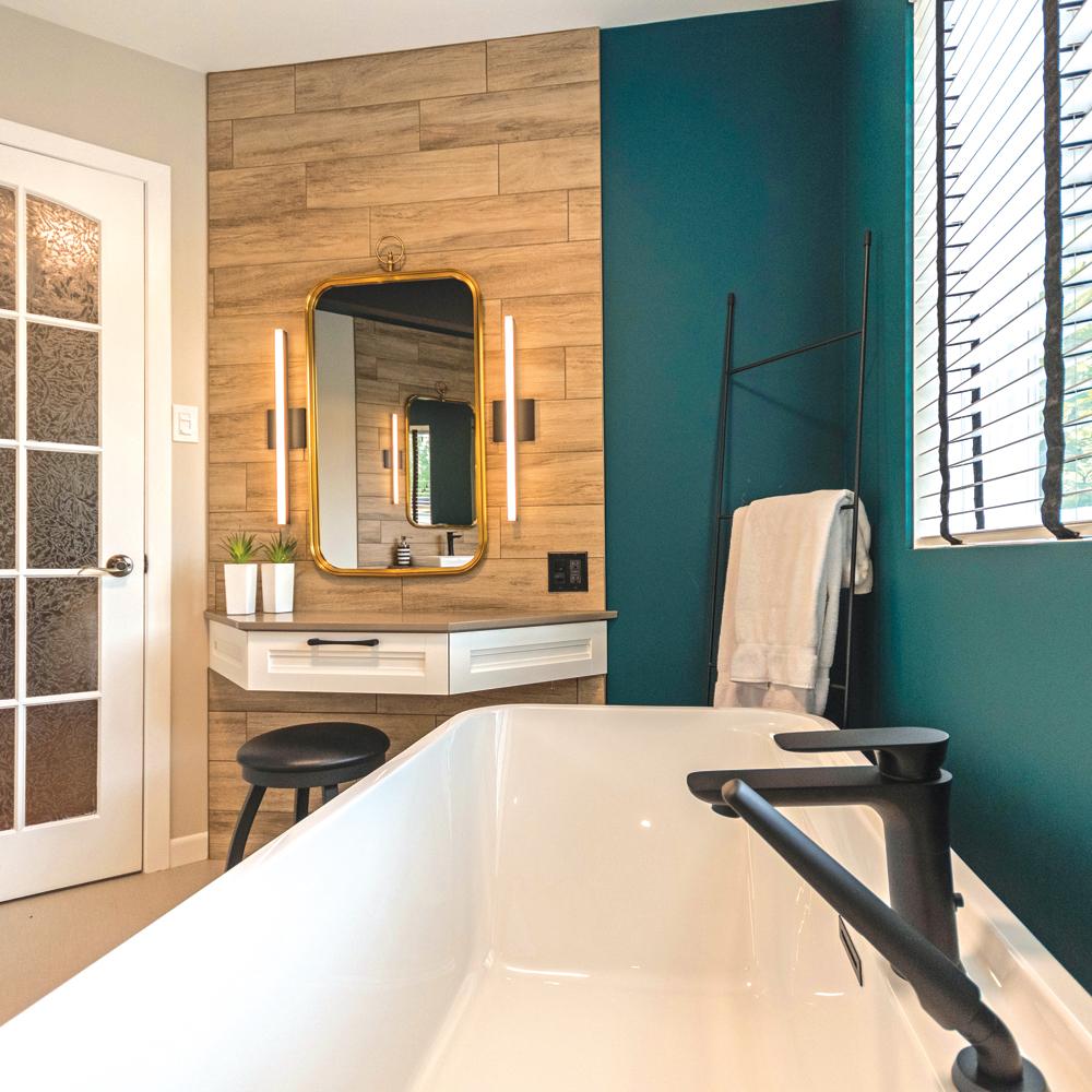 Oui au style éclectique dans la salle de bain !