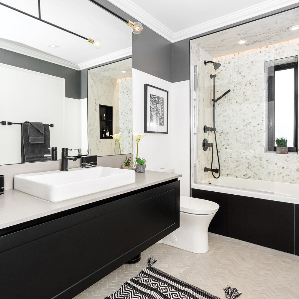 Avant-après: un duo contemporain dans la salle de bain - Je ...