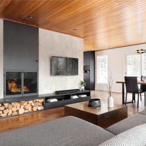 Un salon minimaliste et chaleureux