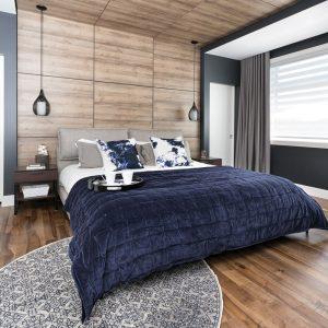 Une chambre veloutée au style graphique moderne
